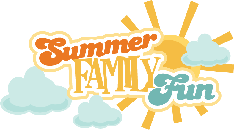 Family svg scrapbook title. July clipart summer fun