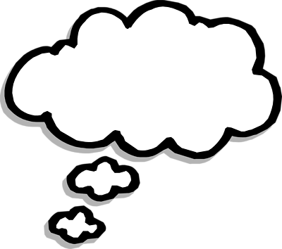 Free think cloud cliparts. Memories clipart thought