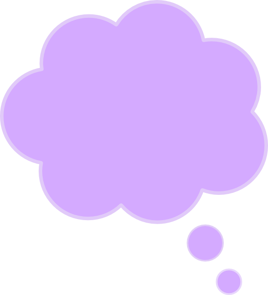 cloud clipart thought bubble