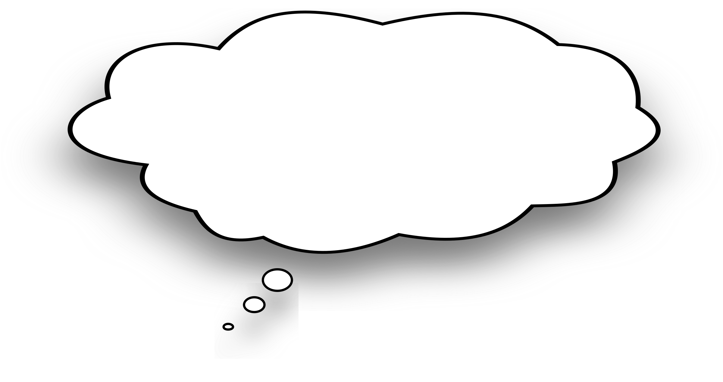 Thought big image png. Thoughts clipart speech bubble