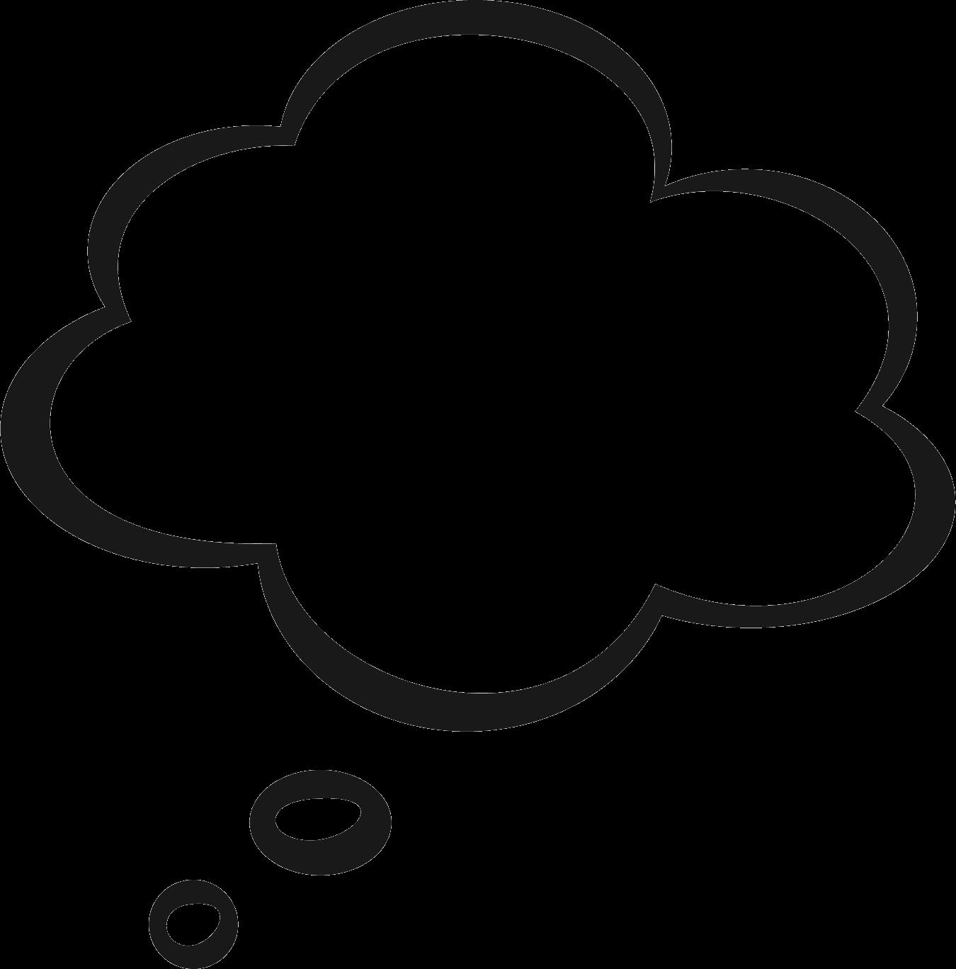 Thought bubble transparent png. Clouds clipart translucent