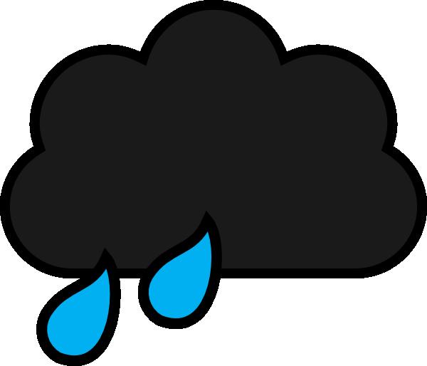 Rain clip art at. Cloud clipart vector