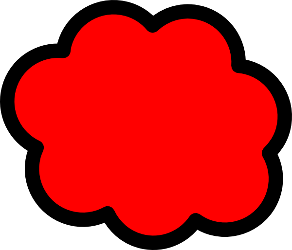 Fight clipart cloud. Red clip art at