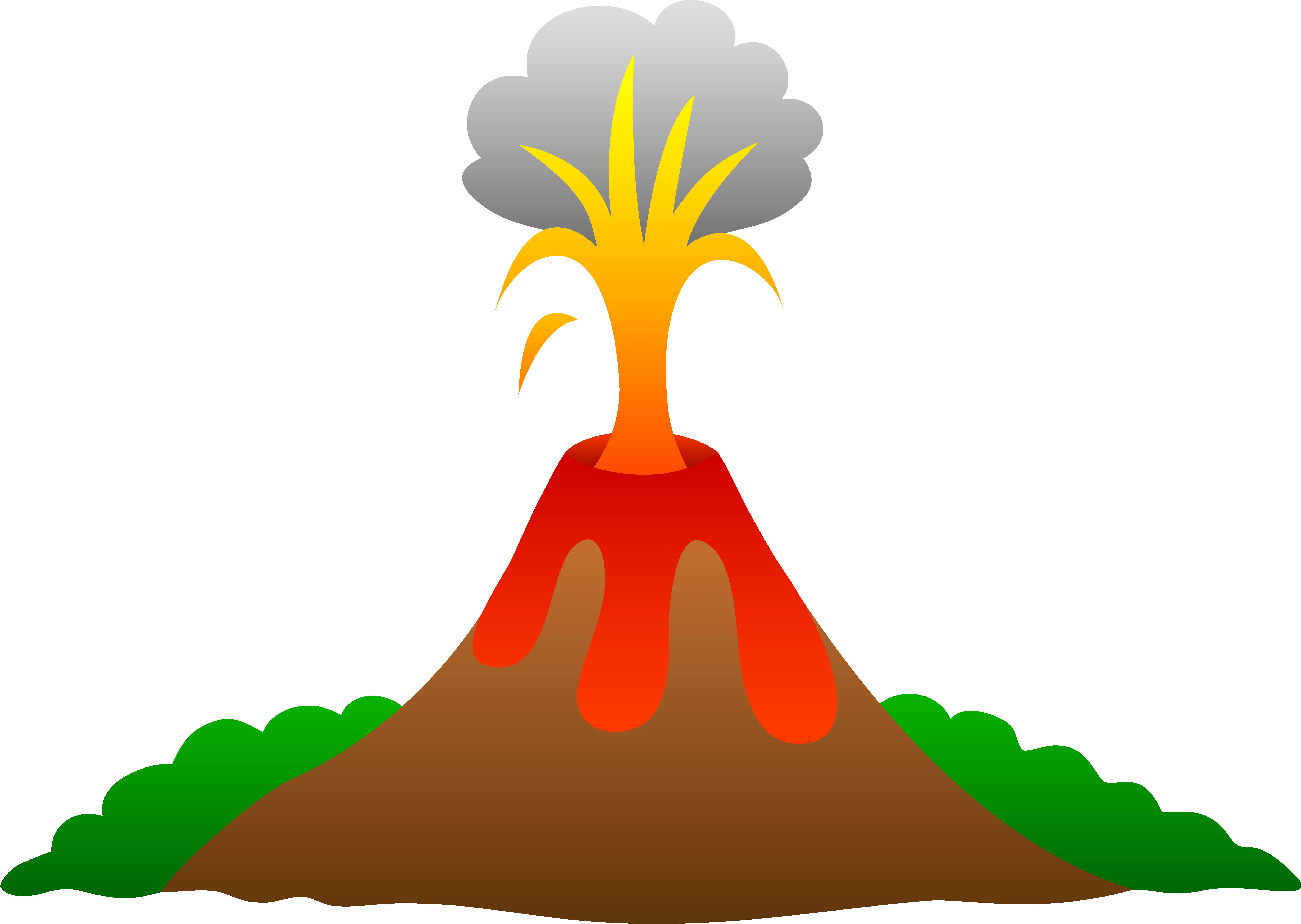 Volcanoes for kids facts. Words clipart fact