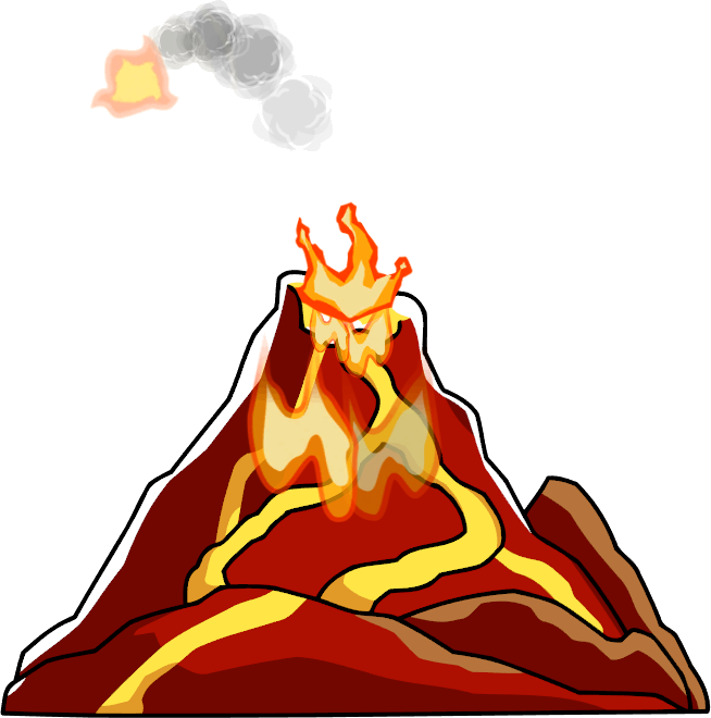 Clipart mountain volcano. Png transparent images all