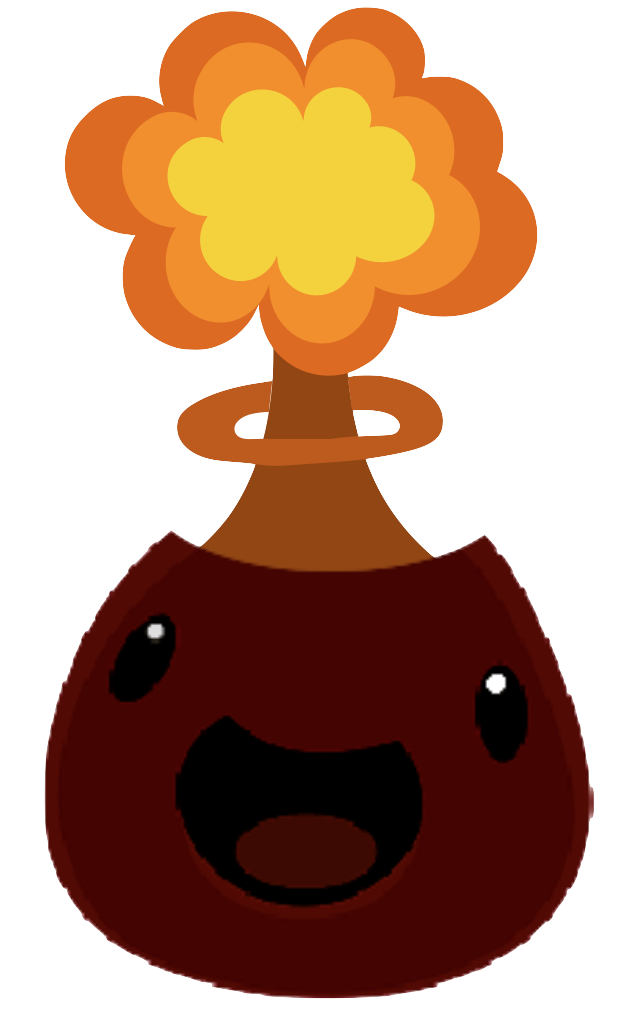 Image volcano slime with. Mushroom clipart cloud