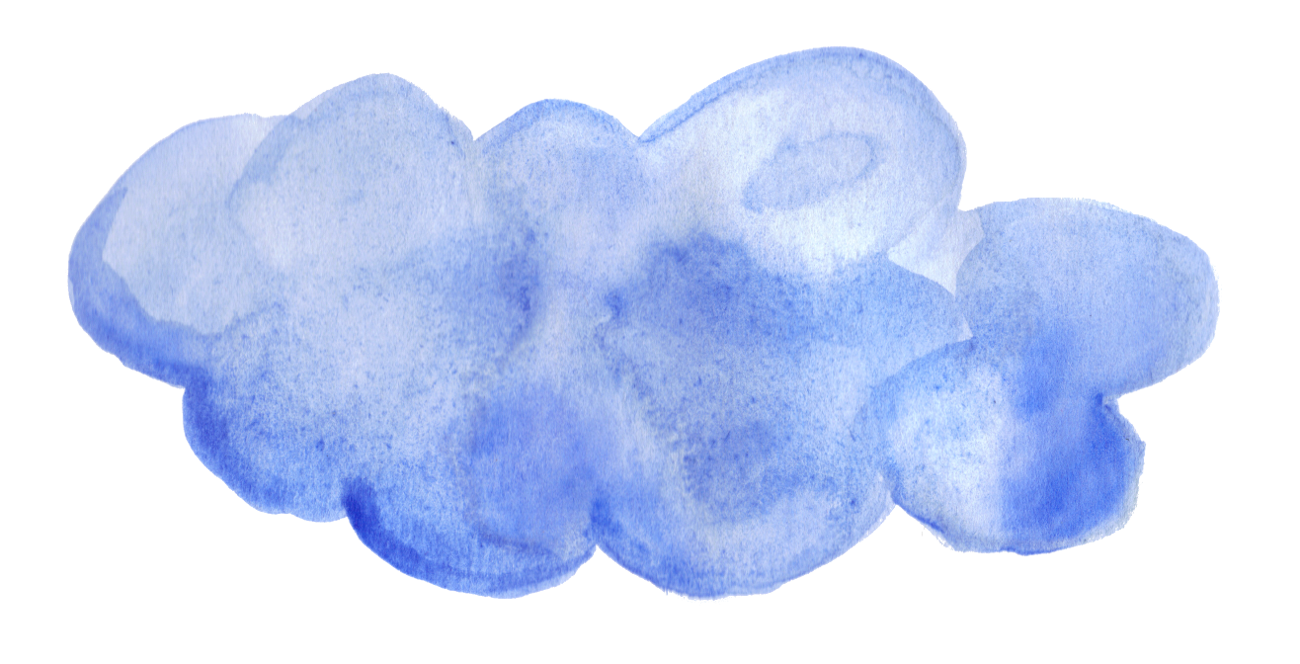 blue watercolor png. Clouds clipart rectangle