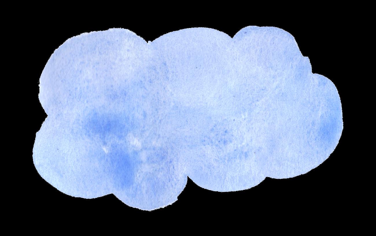 blue clouds png. Clipart cloud watercolor