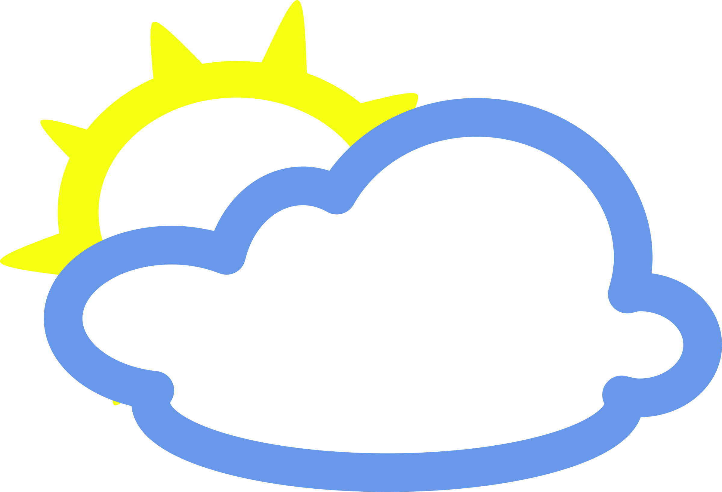 Simple symbols big image. Cloudy clipart weather forecast