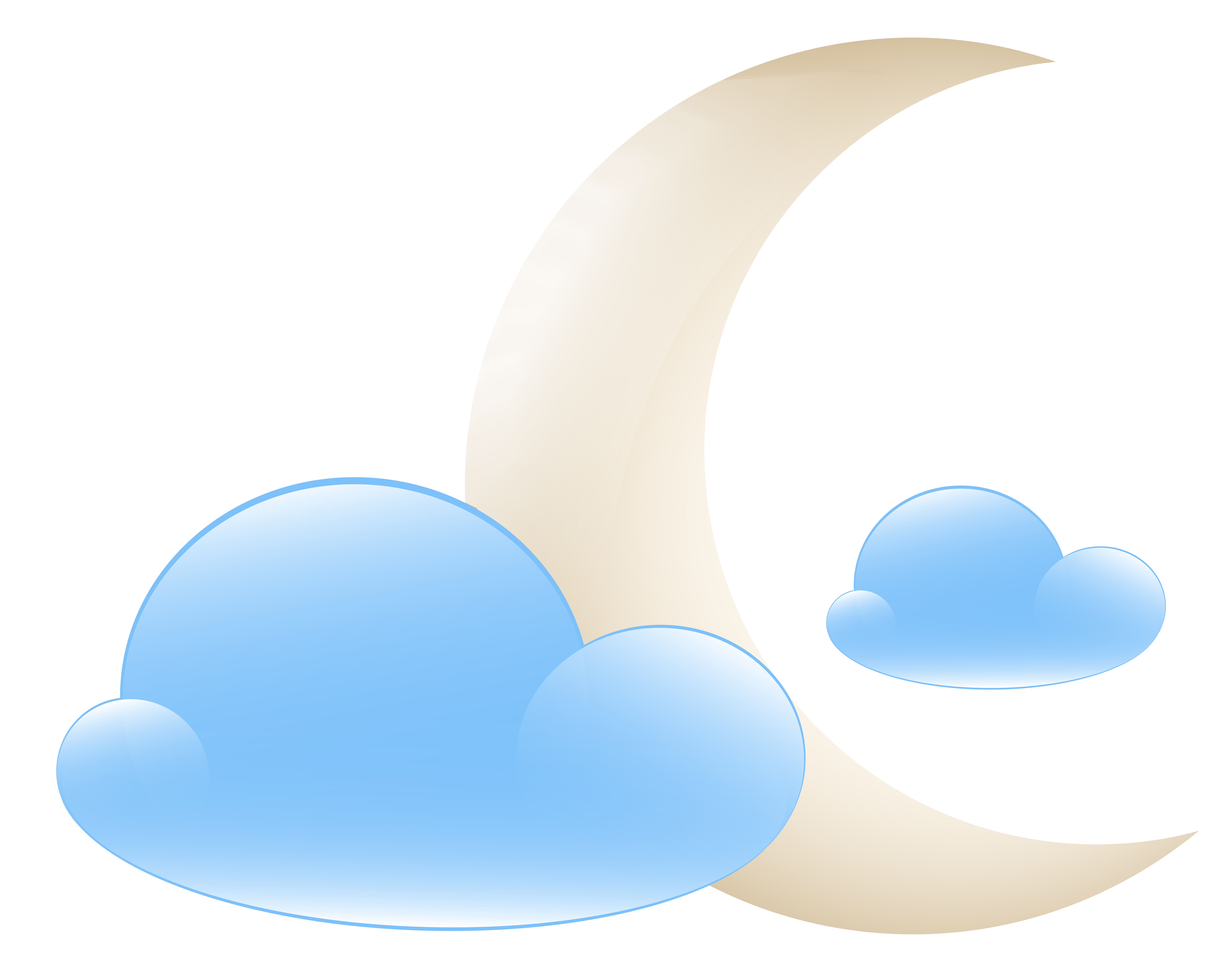 Clouds clipart weather. Moon with icon png