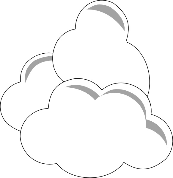 Clip art free vector. Clouds clipart weather