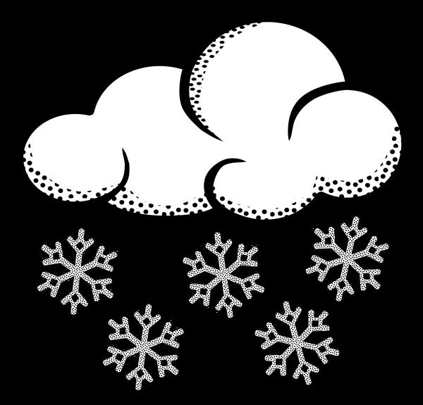 Lineart snow cloud . Clipart clouds winter
