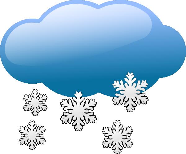 Weather symbols vector clip. Clipart clouds winter