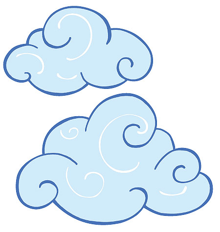 Clipart clouds. Swirl cloud