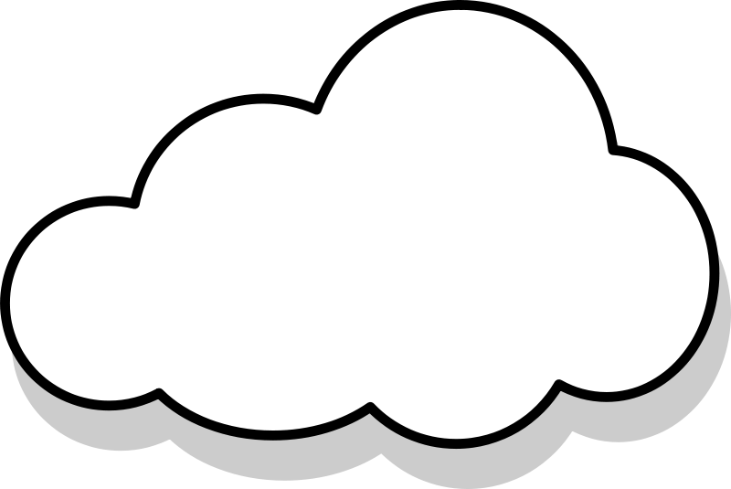Clipart clouds. Gray cloud panda free