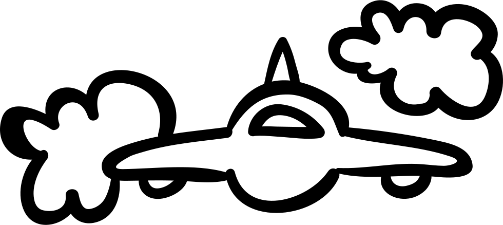 Ufo clipart simple. Or airplane frontal outline