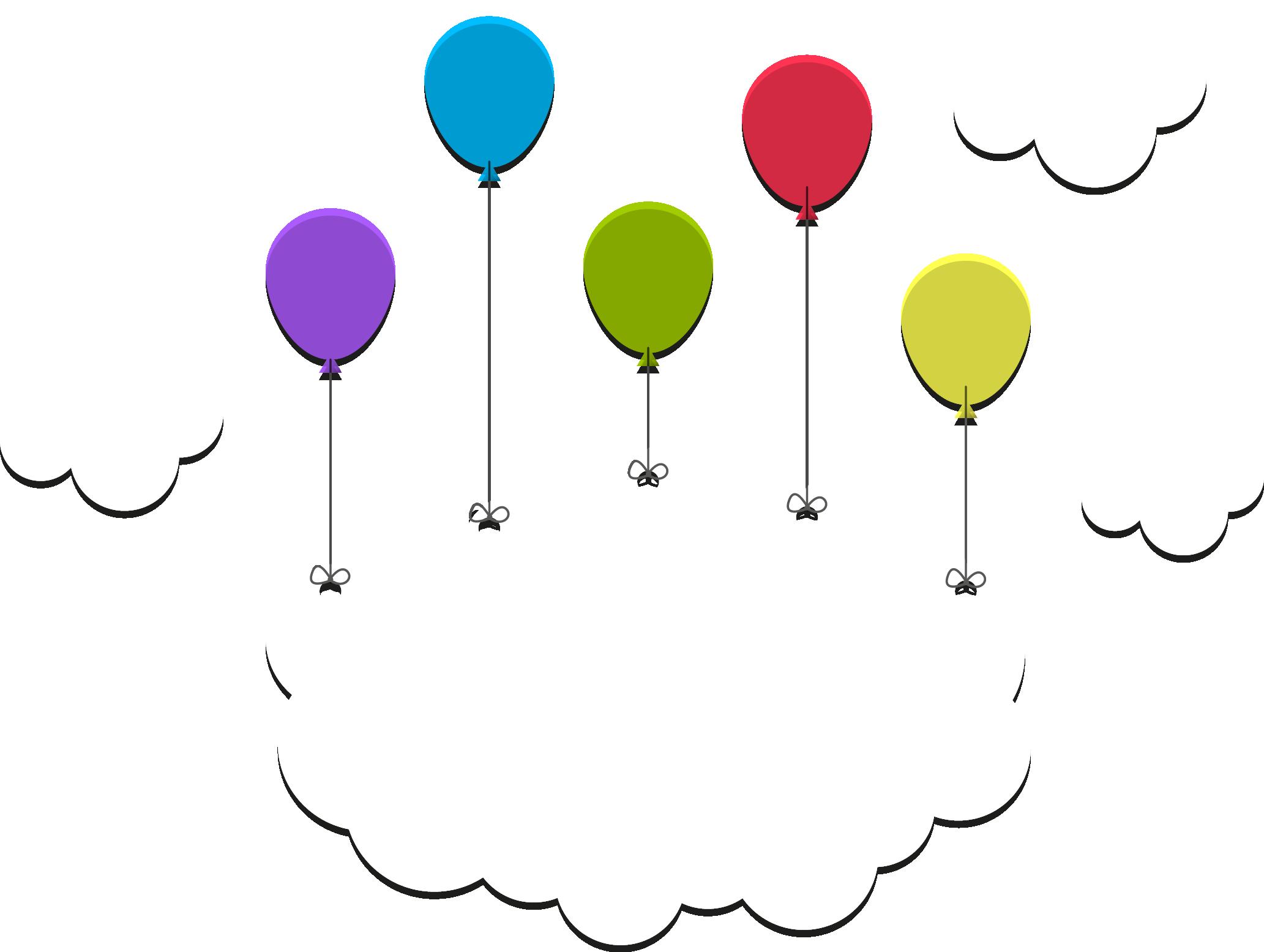 Clipart clouds balloon. Light cloud sky moon