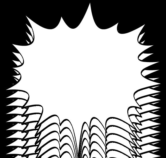 Balloon irregular star fukidashi. Clipart clouds bitmap