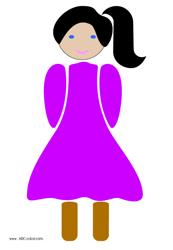 Picture sign girl index. Clipart clouds bitmap