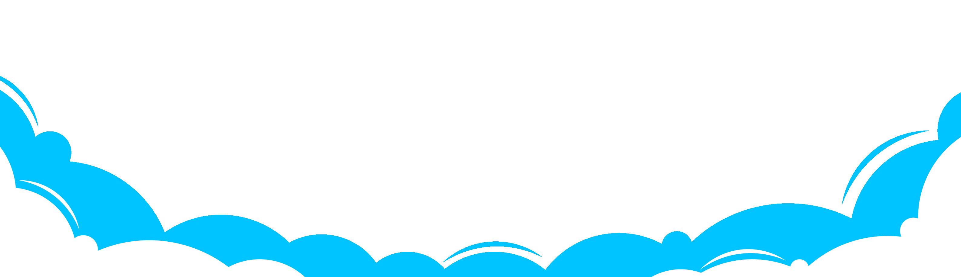 Cloud border png. Vector cartoon blue clouds