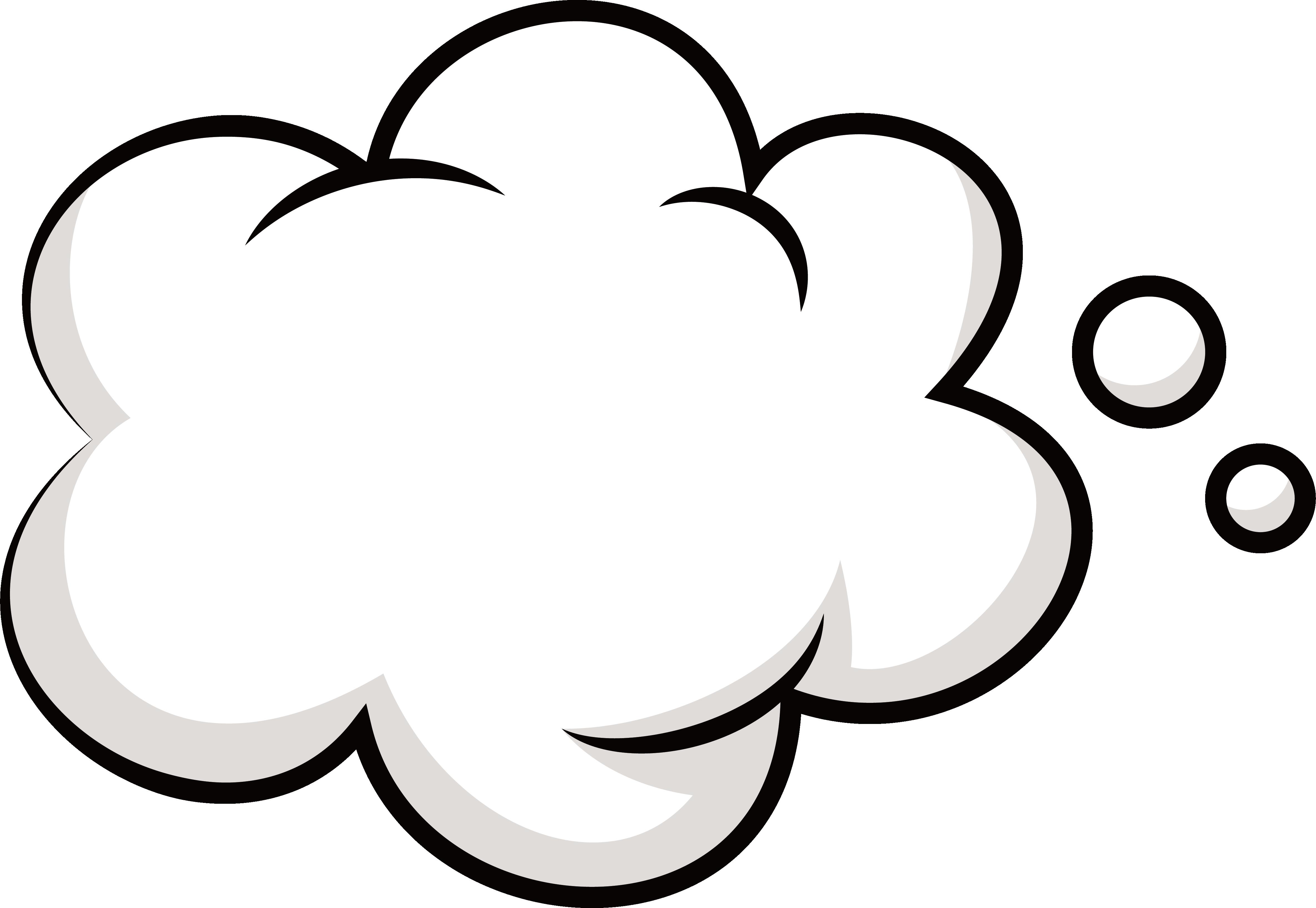 Cloud bubble promotion clip. Clouds clipart line art