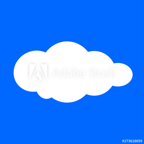 cloud, clouds shape, white clouds isolated on blue ...