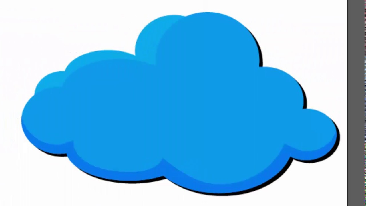 ☁️☁️☁️cloud shape - Adobe Illustrator cs6 tutorial. How to create blue  cloud for summer composition.