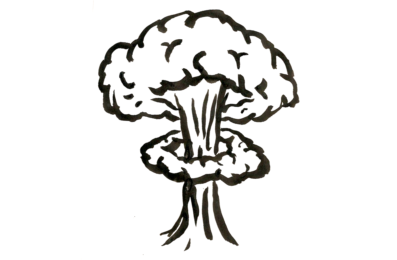 Mushroom cloud silhouette at. Clouds clipart explosion
