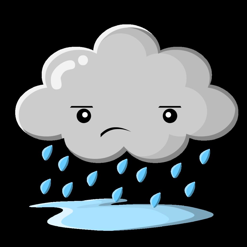 Clipart rain cartoon.  collection of sad