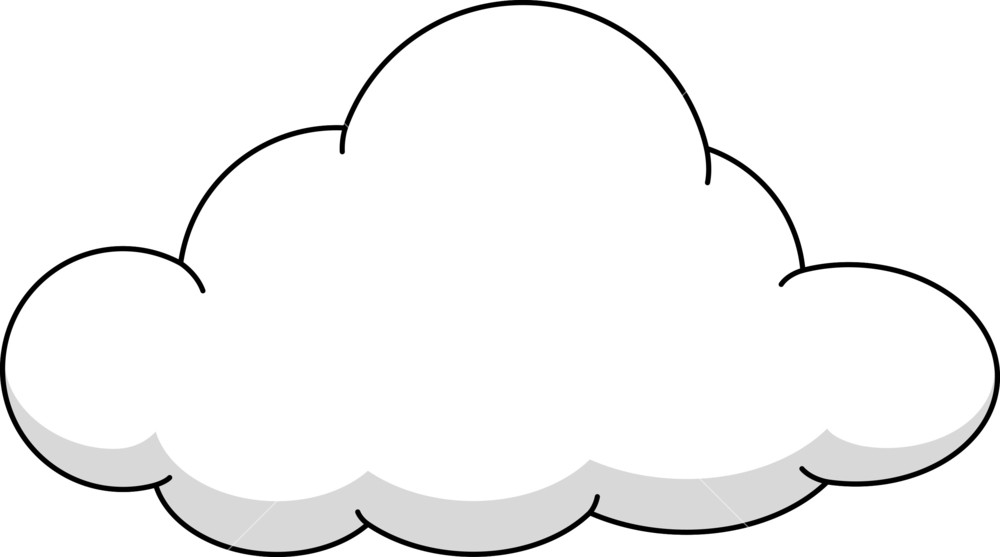 Royalty free stock image. Cloud clipart fluffy cloud
