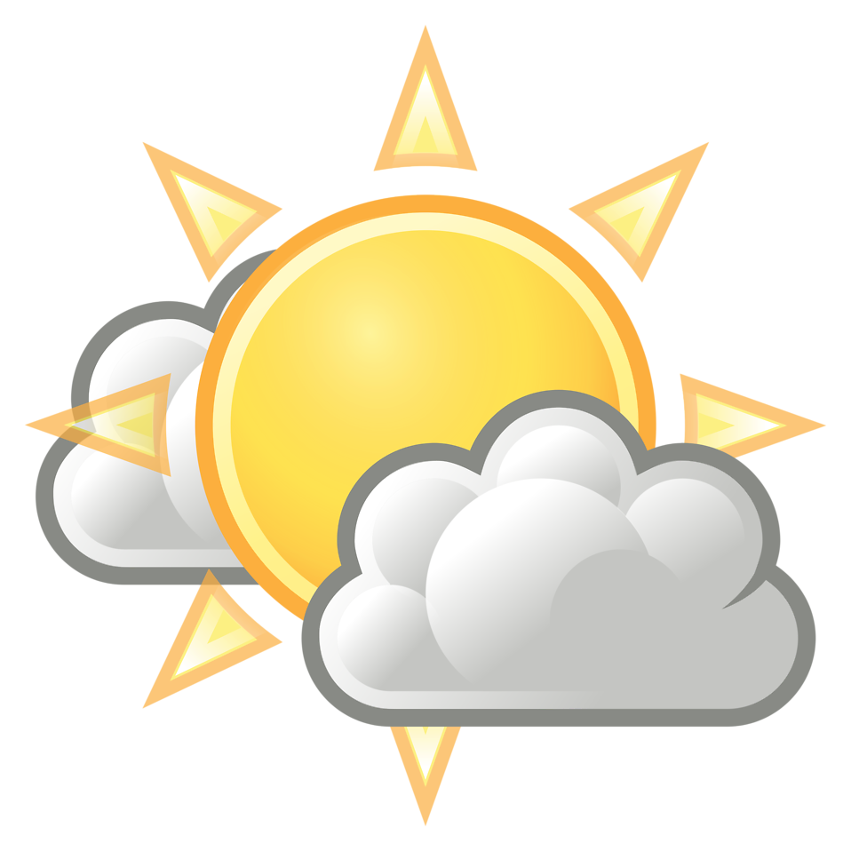 Cloudy clipart warm weather. Free stock photo illustration