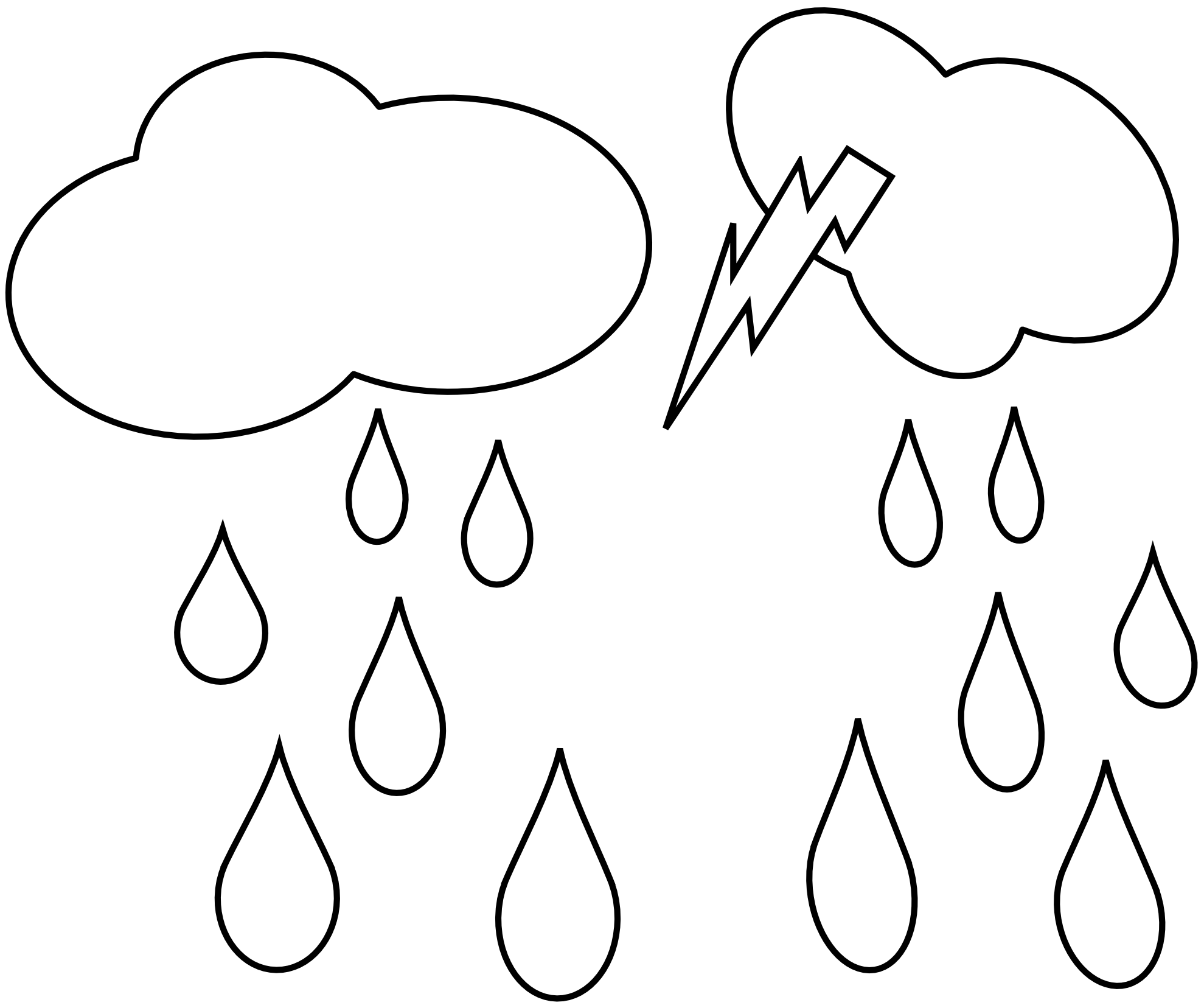 Raindrop clipart cloudy with. Rain cloud black and