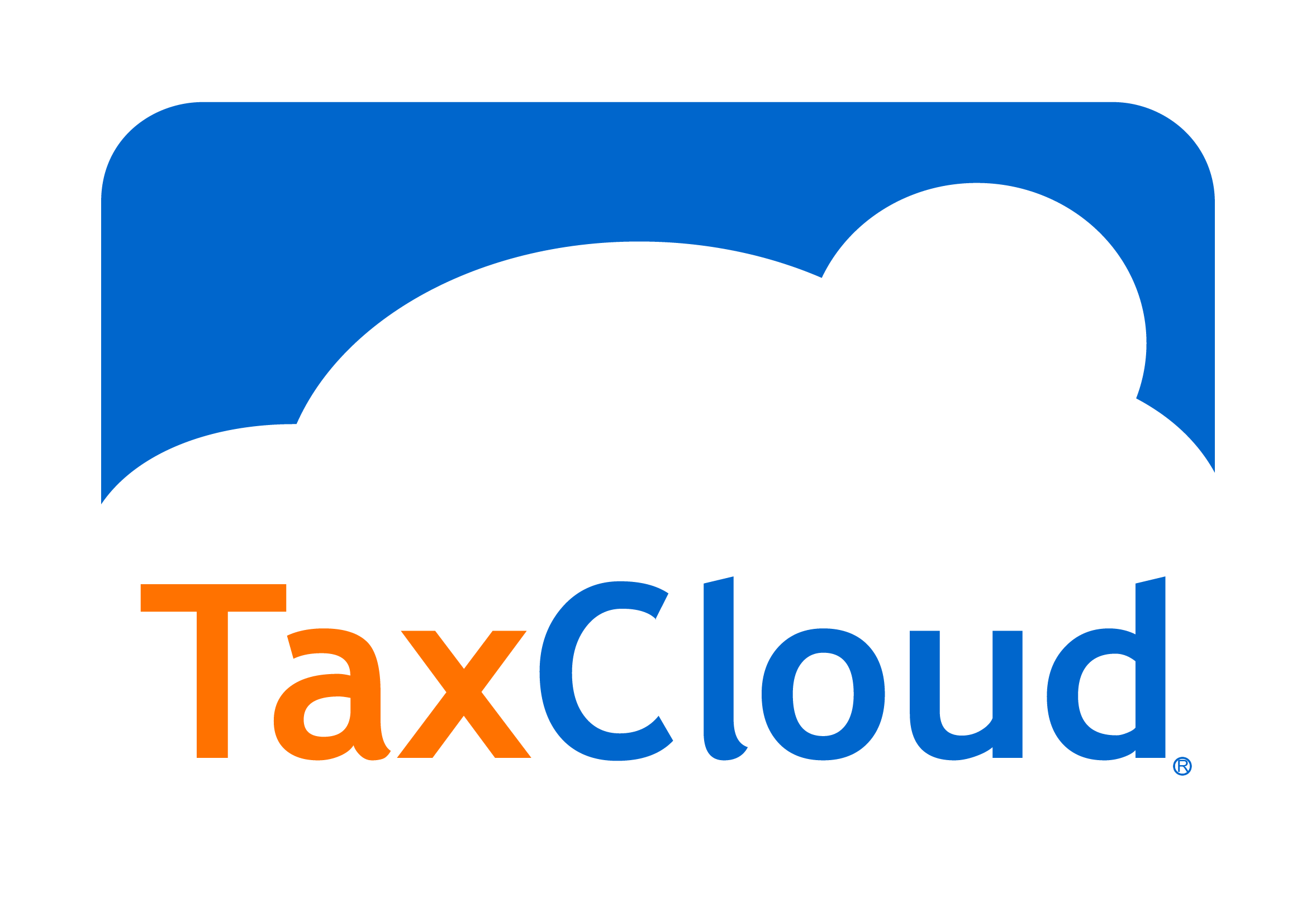 Taxcloud tax management solution. Clipart clouds logo
