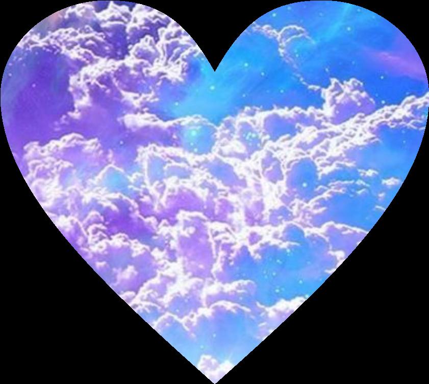Love heart clouds magic. Cloud clipart magical