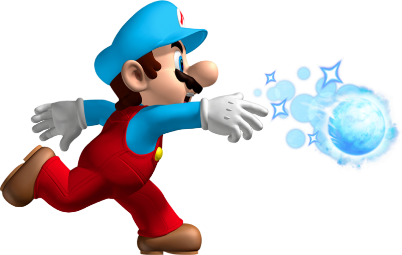 Cloud clipart mario bros. Ice flower object giant