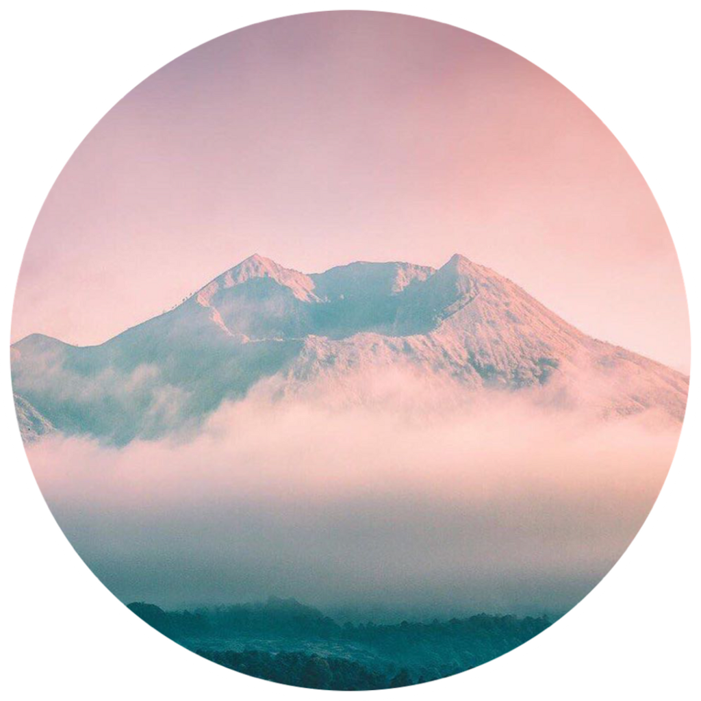 Forest pink aesthetic tumblr. Clouds clipart mountain