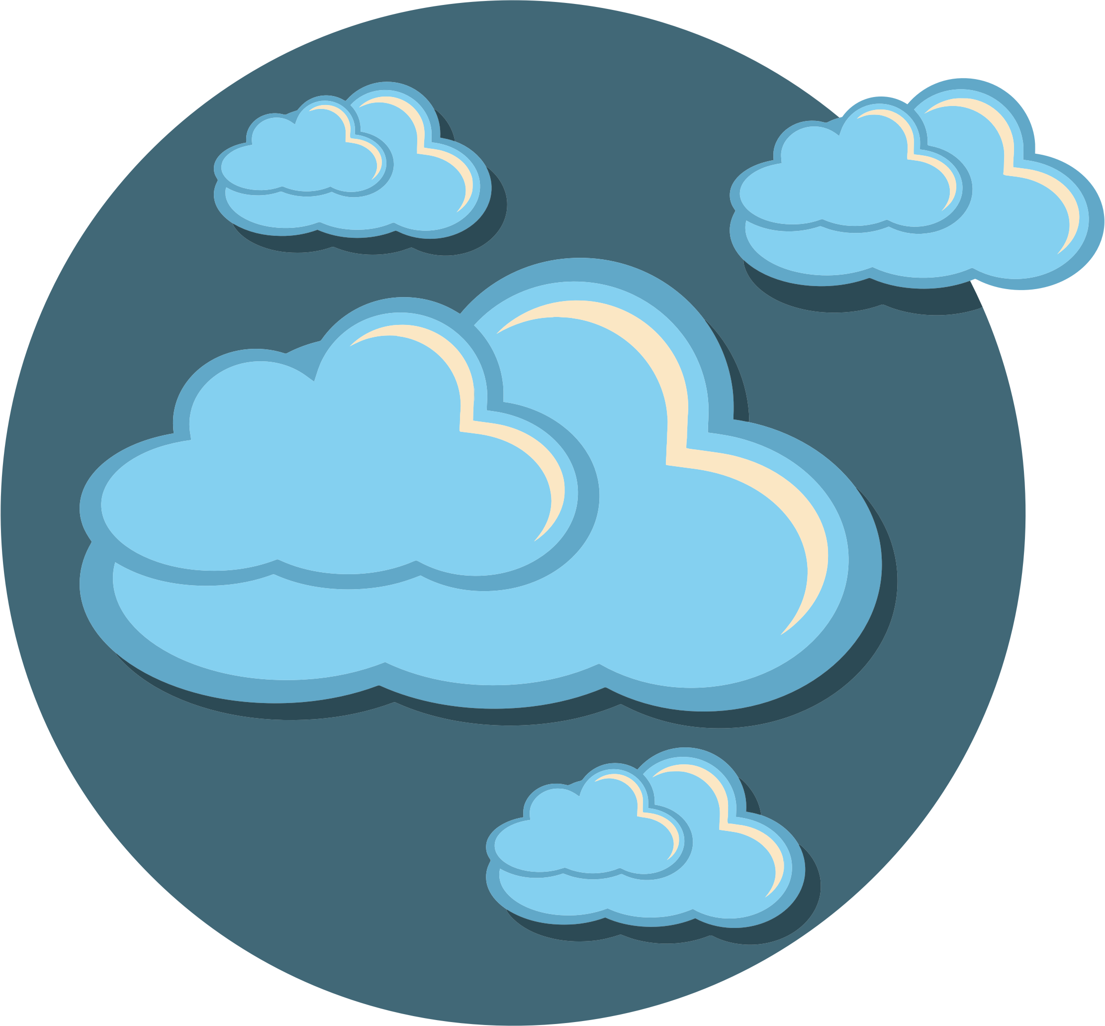 Storm icon big image. Clouds clipart brain