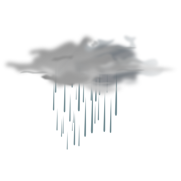 Rain showers icon clip. Showering clipart scattered thunderstorm
