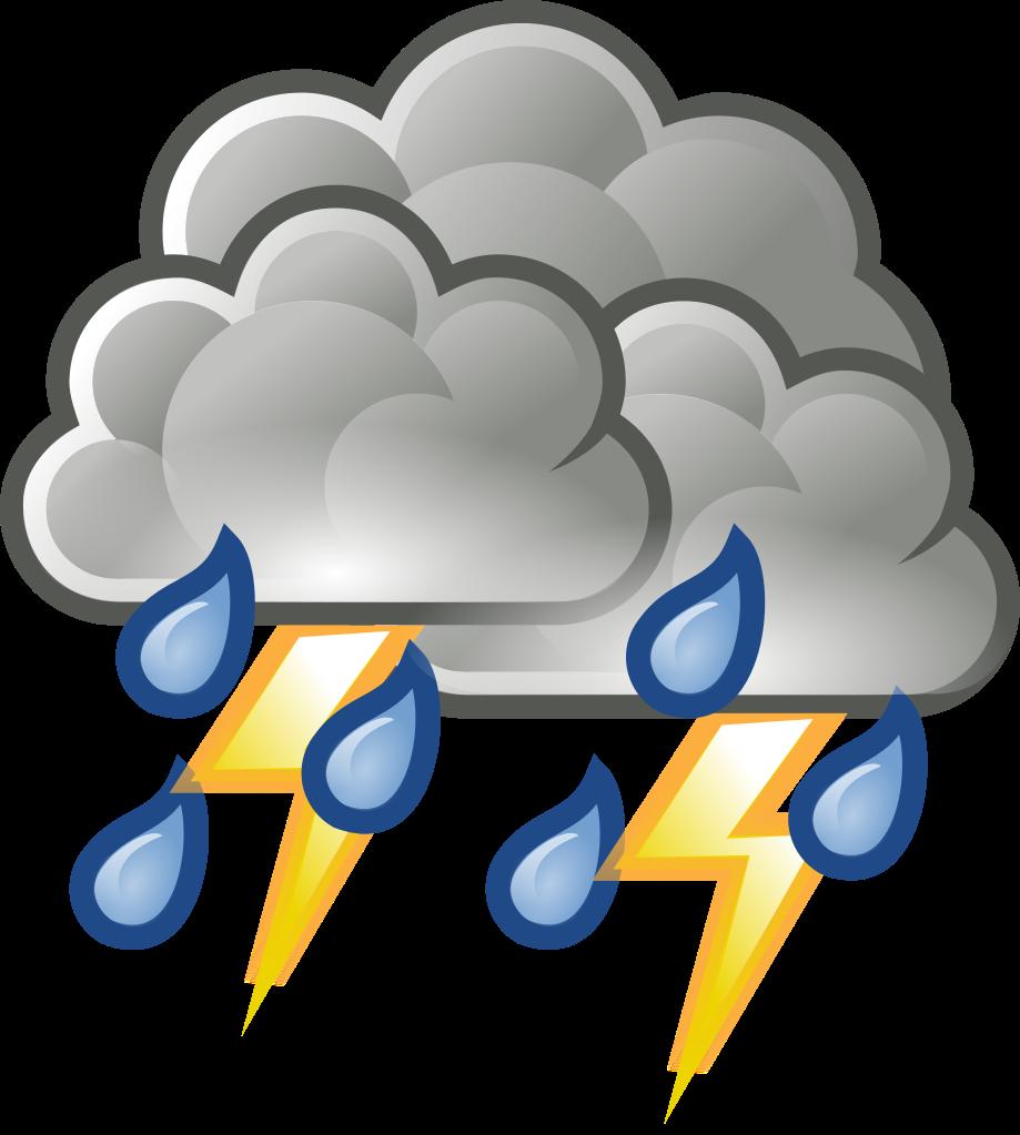File weather rain thunderstorm. Lightning clipart emoji