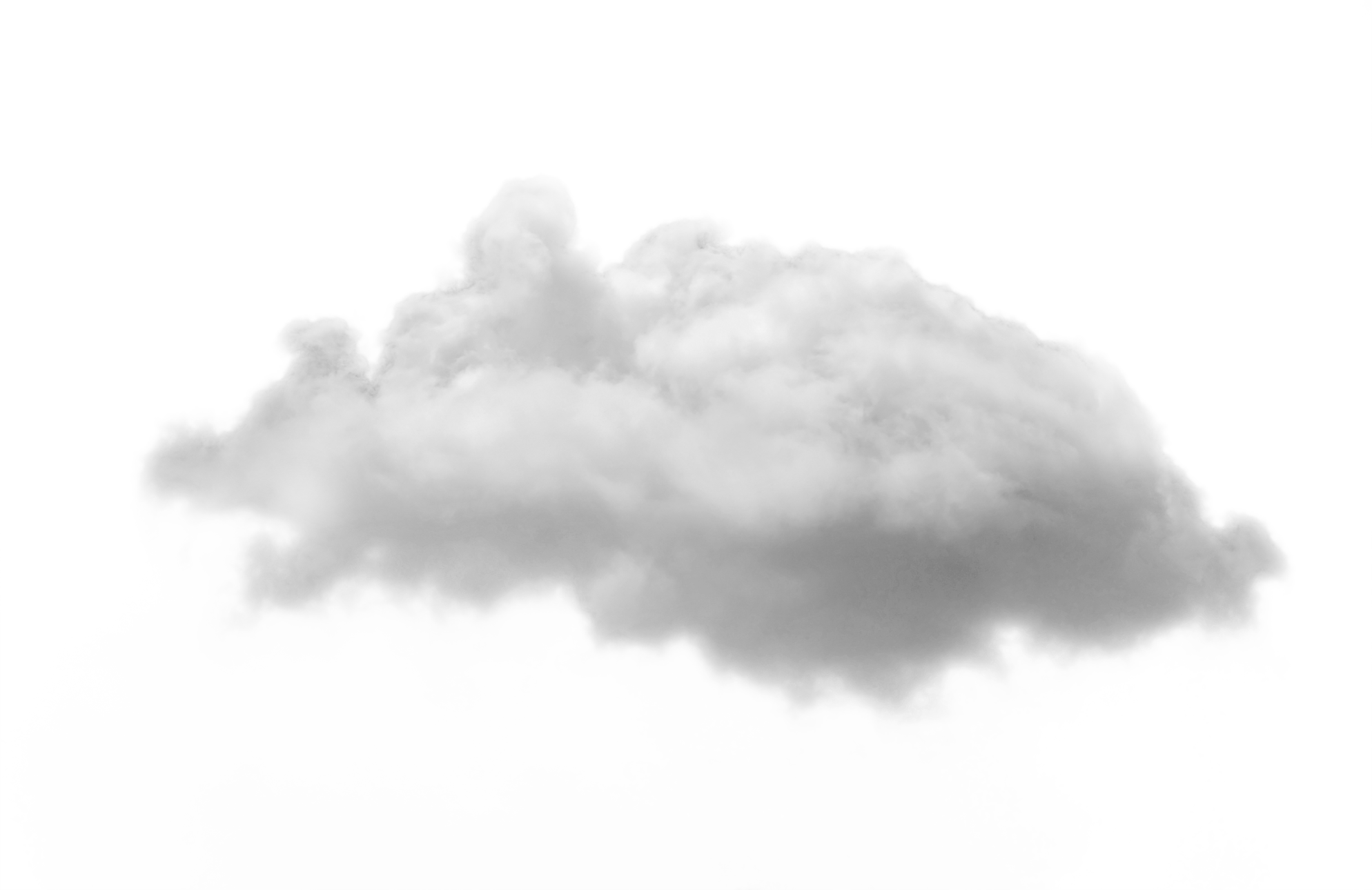 Cloud one isolated stock. Smoke puff png