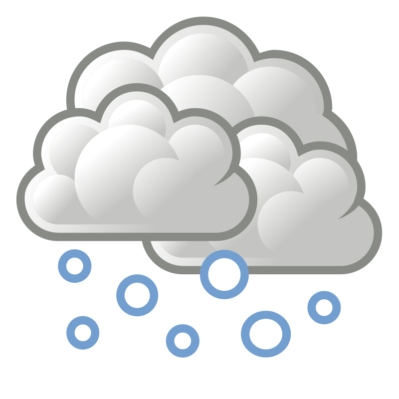 Clipart clouds snowing.  collection of snow