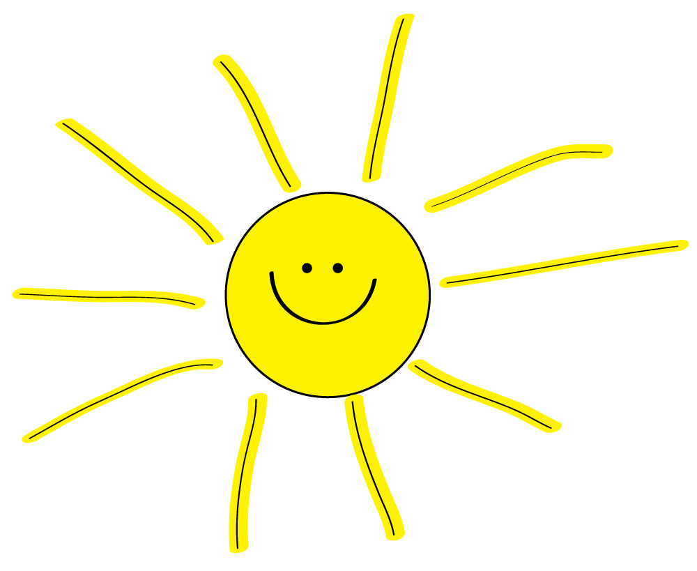 Craft clipart different material. Free sun to decorate