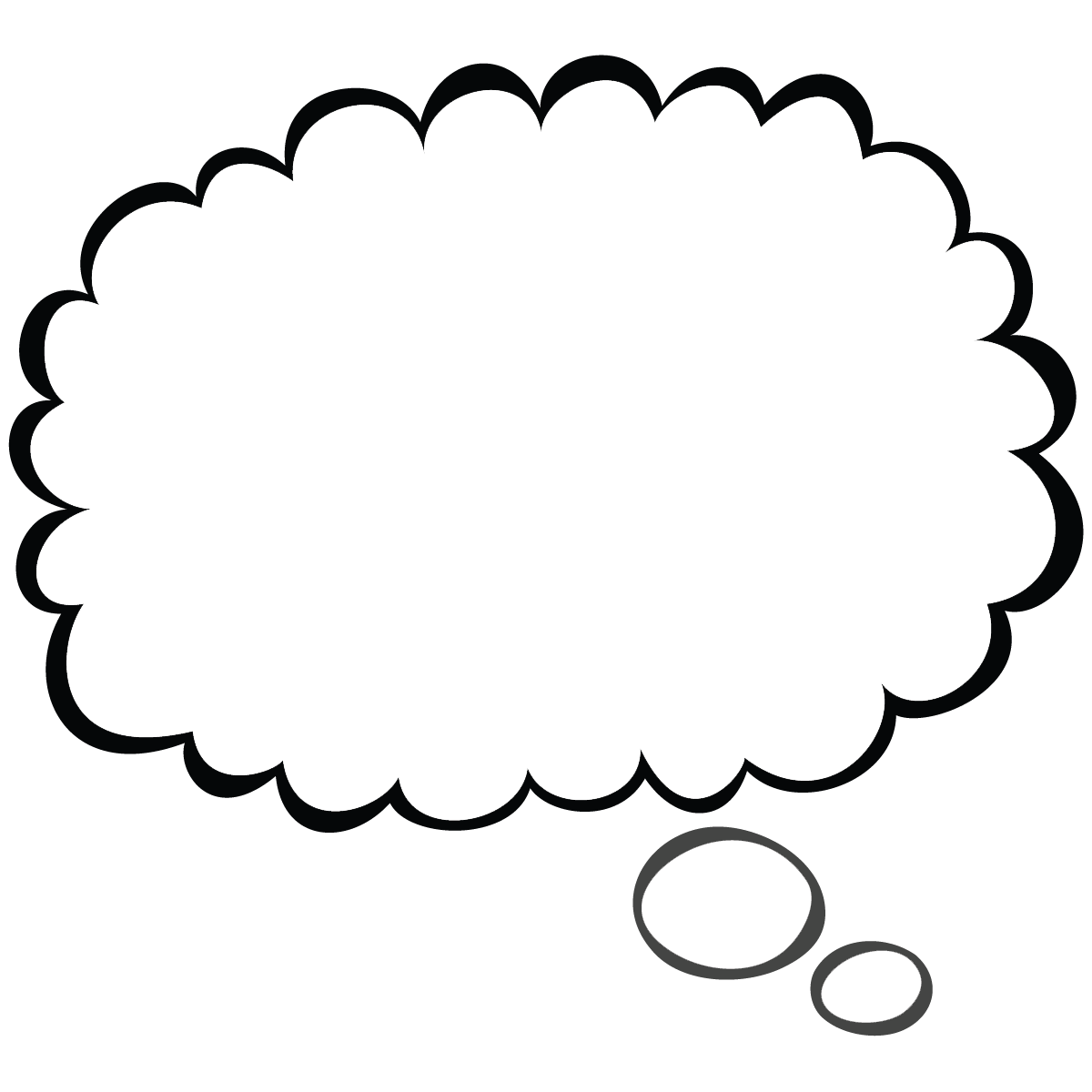 thoughts clipart buble