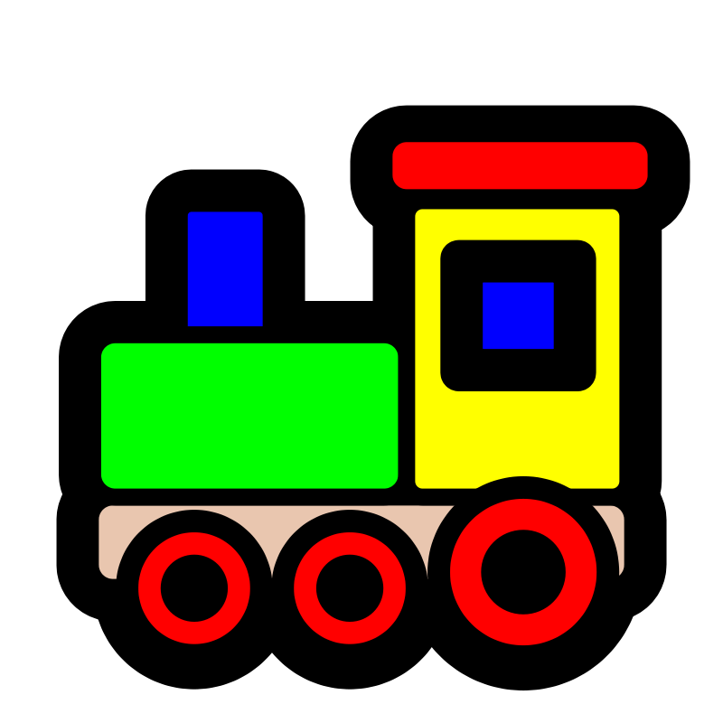 Clip art free for. Kid clipart train