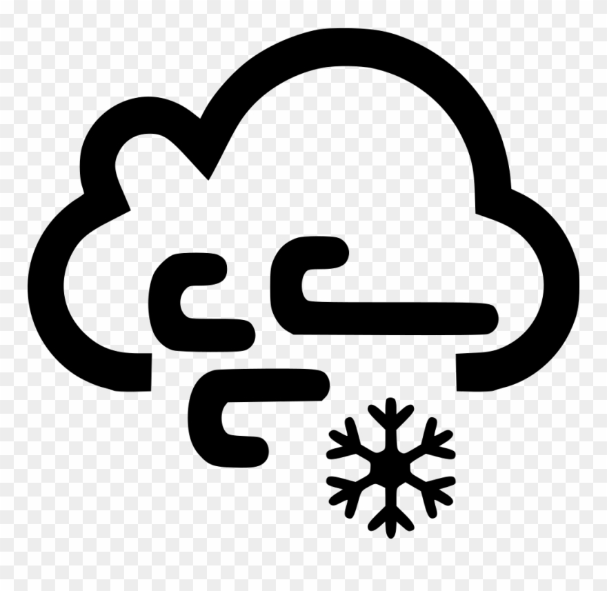 Clouds wind and snow. Windy clipart snowy weather
