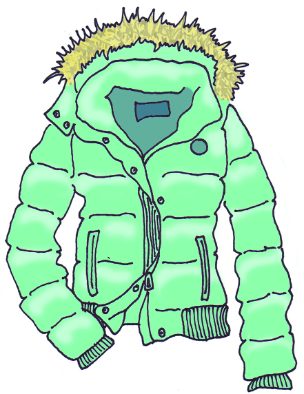 Winter . Clipart coat