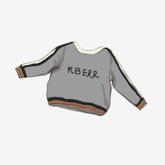 Clipart coat baby sweater. Hand painted tide brand