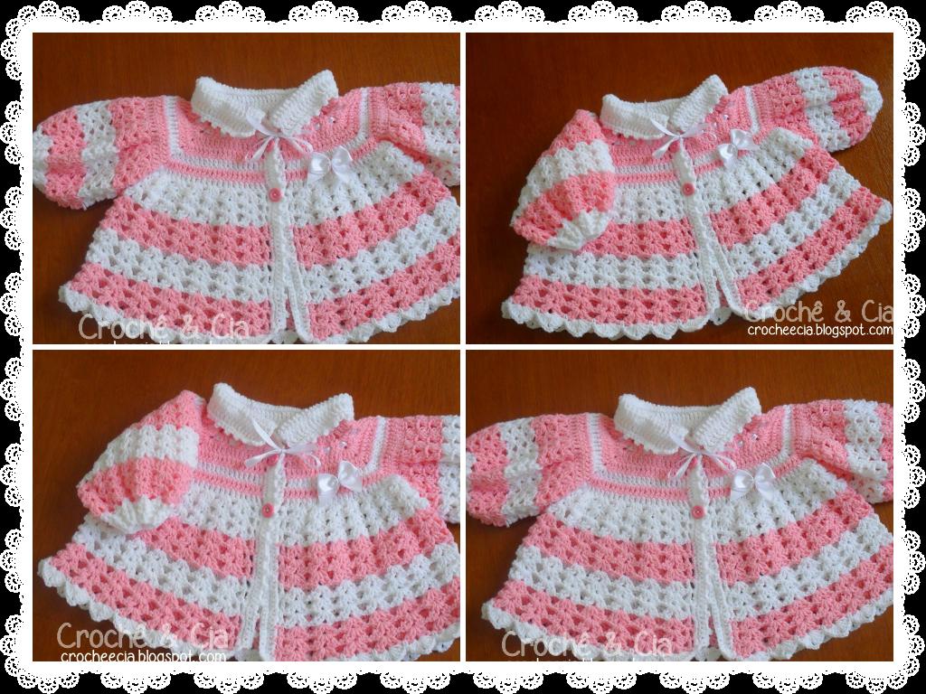 Casaquinho de l rosa. Clipart coat baby sweater