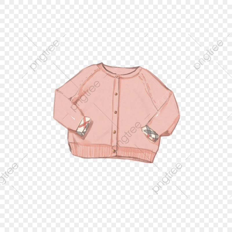 Clipart coat baby sweater. Hand painted pink cartoon