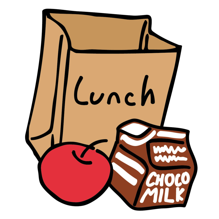 Lunchbox clipart bagged lunch. Free cliparts school download